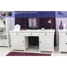 hidden home office. white ash twin pedestal hidden computer desk home office