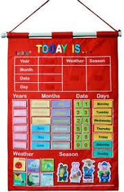 Details About Kids Learning Calendar Weather Season Pocket Chart For Preschool Learning Toys