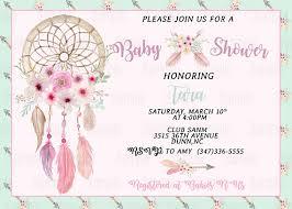 Dream Catcher Baby Shower Invitations Printable Dream Catcher Baby Shower Invitation plus FREE blank 47