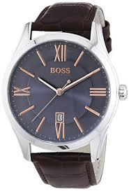 hugo boss 1513041 ambassador wristwatch men s leather band hugo boss 1513041 ambassador wristwatch men s leather band colour brown