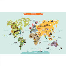 Small Picture The World Map Poster Wall Sticker Contemporary Kids Wall