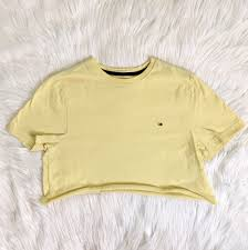 Light Yellow Crop Top Light Yellow Tommy Hilfiger Crop Top