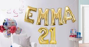 slide happy birthday number balloons