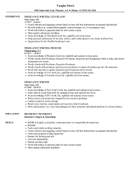 Freelance Writer Resume Objective Freelance Writer Resume Samples Velvet Jobs 52