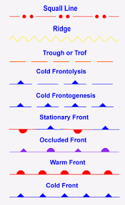 Surface Analysis Chart Symbols Terminology And Weather Symbols