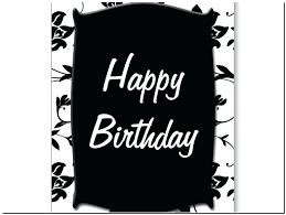 black and white birthday cards printable printable black and white birthday cards happy birthday printable