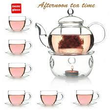 2019 glass tea set 600ml heat resistant glass teapot warmer 100ml tea cup and saucer from yiheyinyi 35 18 dhgate com