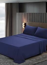htovila 4 piece bed sheet set soft brushed microfiber bedding set flat sheet fitted
