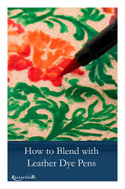 learn how to use leather dye pens and our best tips for doing so