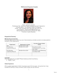 Resume Bio Example Resume Bio Example 100 Sample Personal Biography Template All File 9