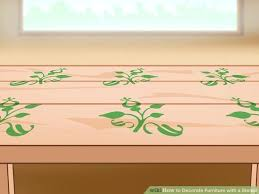 image titled decorate. How To Decorate Furniture Image Titled With A Stencil Step