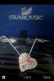 swarovski 1017682 alana heart pendant