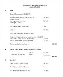 Client Account Reconciliation Sample Creditors Statement ...