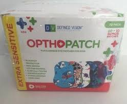 Kids Adhesive Eye Patches Fun Boys Design 90 10 Bandages
