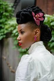 Image Coiffure De Mariage Pour Black Coupe De Cheveux Femme
