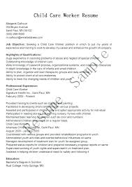 Day Care Resume Child Care Resume Sample Objective Babysitting Specialist Samples