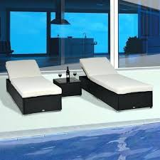 rattan wicker furniture 3 outdoor rattan wicker chaise lounge sofa couch patio furniture set cushion rattan