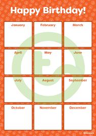 Orange Emoji Happy Birthday Chart Teaching Resource
