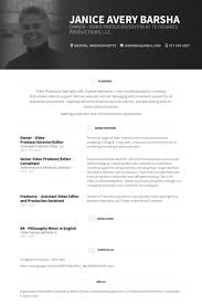 cv video template federal resume template owner video producer director editor resume