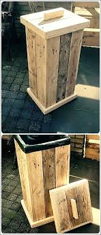 outdoor garbage can holder full size of garbage can storage home depot how to build a