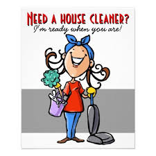 Need A House Cleaner Custom Marketing Flyer Business Products