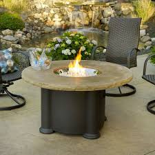 round natural gas fire pit table
