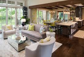 Impressive Kitchen Living Room Combo With Home Decorating Ideas