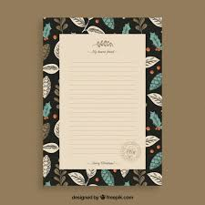 letter template with a black frame