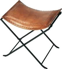 leather camp stool folding chair for cc supply