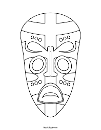 Small Picture African Mask Coloring Pages To PrintMaskPrintable Coloring Pages