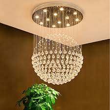 crystal chandelier downlight electroplated metal crystal bulb included designers 110 120v 220