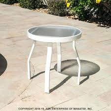 round outdoor side table 2 acrylic inch round outdoor side table suncast elements resin outdoor side