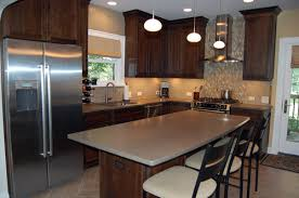 Beautiful Dark Kitchen Cabinets Colors Cool Cherry And Design