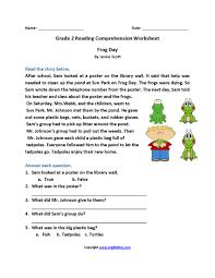 reading prehension worksheets 2nd grade frameimage org