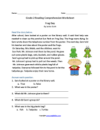reading prehension worksheets 2nd grade frameimage org