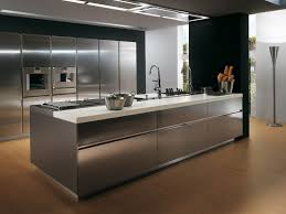 Contemporary Stainless Steel Kitchen Cabinets  Elektra Plain Steel    Briliant Contemporary Stainless Steel Kitchen Cabinets Elektra Plain Steel  By ...