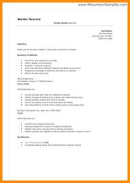 Welder Resume Beauteous Resume Cover Letter Examples For Welders With Welder Resume 60