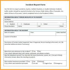 Police Incident Report Template Blank Form Example Poli