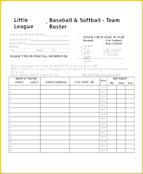 Little League Roster Template