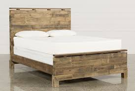 atticus queen platform bed  living spaces