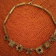 gold patricia locke necklace