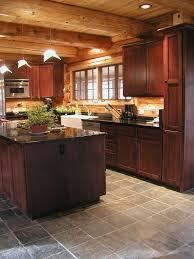 log cabin countertops inspirational cedar log home kitchen area slate floors large cedar log walls of
