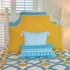 aqua headboard pillow