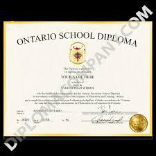 High School Deploma Canada Fake High School Diploma Diplomacompany Com