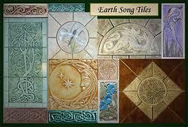decorative handmade ceramic tile art inside decorations 3