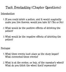 tuck everlasting guide from glencoe mcgraw hill upper grade   chapter questions for tuck everlasting