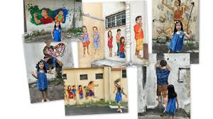 a collage of the photos we took that day the missy was not a very keen model that day my favourite wall mural on mural wall art ipoh with wall murals in ipoh little chumsy s blog