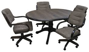 dinette sets chairs with casters. call for pricing, w270caster_42x42x60wood.jpg dinette sets chairs with casters