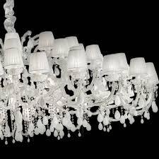 large white crystal pendant chandelier
