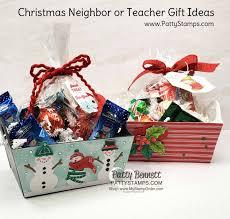 Designer Christmas Gift Ideas Christmas Neighbor Or Teacher Gift Idea Patty Stamps